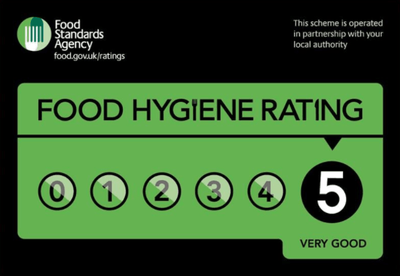 Another 5 star food hygiene rating :)